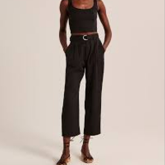 Abercrombie | Belted High Waisted Trousers